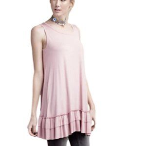 Easel VICTORIAN ROSE Sleeveless Knit Ruffle Tunic